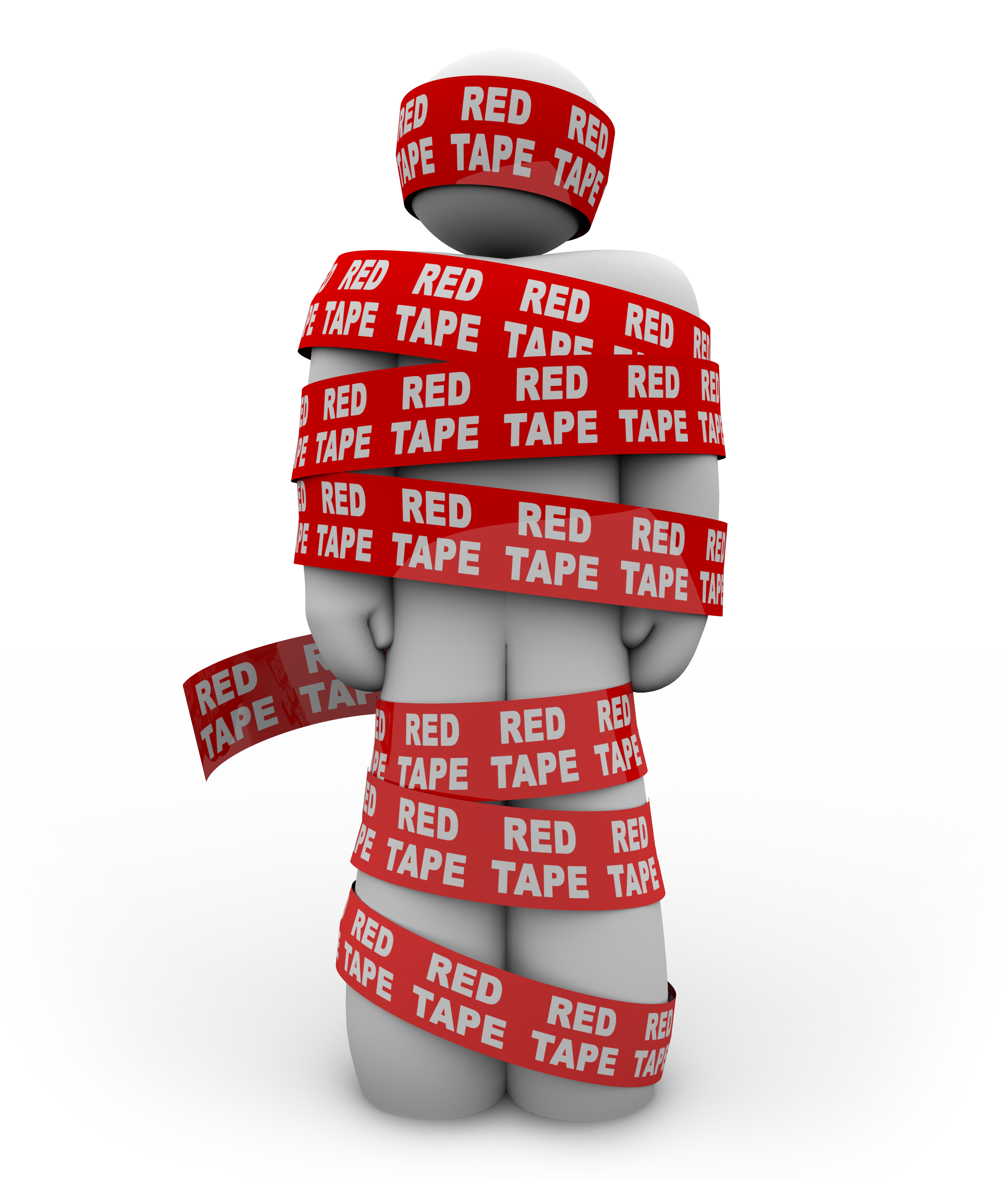 Red Tape 3D Man