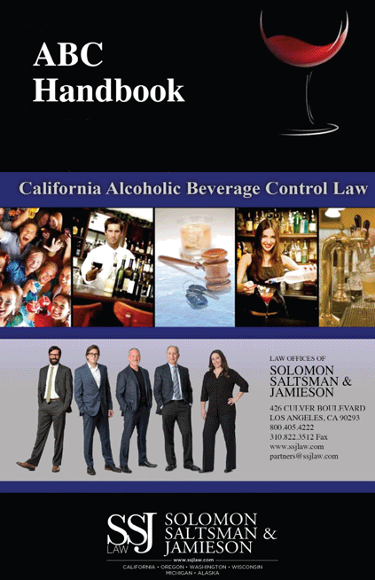 alcohol beverage control handbook - LA California ABC Attorneys